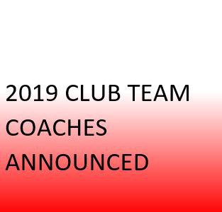 Coaches for 2019 Club Season Announced