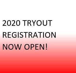 2020 Tryout Schedule Posted, Registration Now Open!